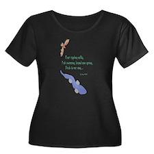 Spring-River Women's + Size Scoop Neck Dark T-S