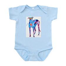 Greyhound with Heart Infant Bodysuit