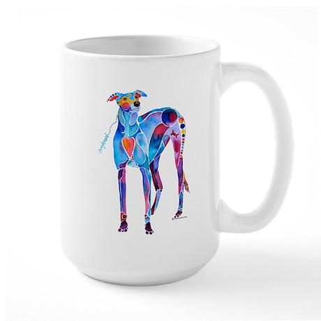 Greyhound with Heart Large Mug