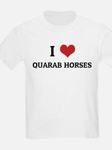I Love Quarab Horses Kids T-Shirt