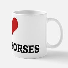 I Love Quarab Horses Mug
