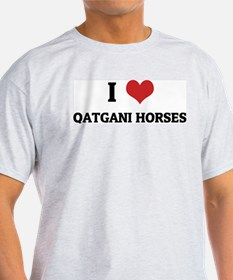 I Love Qatgani Horses Ash Grey T-Shirt