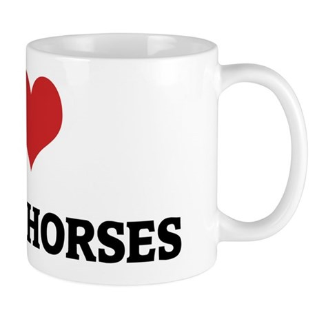 I Love Qatgani Horses Mug