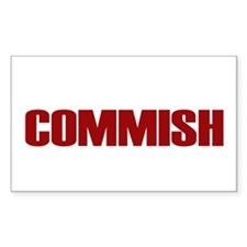 Commish (Red) Rectangle Decal