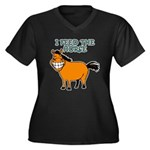 I Feed The Horse Women's Plus Size V-Neck Dark T-S