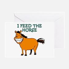 I Feed The Horse Greeting Card