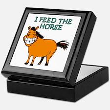 I Feed The Horse Keepsake Box