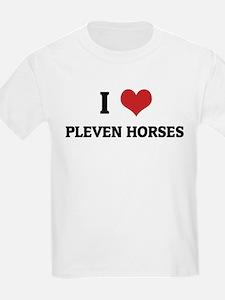 I Love Pleven Horses Kids T-Shirt
