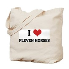 I Love Pleven Horses Tote Bag