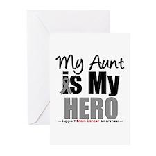 BrainCancerHero Aunt Greeting Cards (Pk of 10)