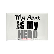 BrainCancerHero Aunt Rectangle Magnet