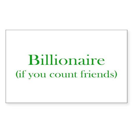 Billionaire - Friends Rectangle Sticker 10 pk)