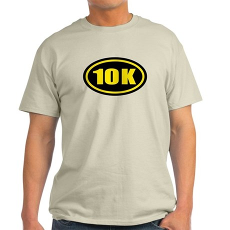 10 K Runner Oval Light T-Shirt