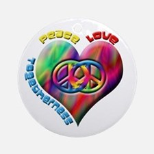 Peace Love Togetherness Ornament (Round)