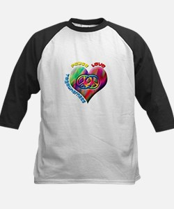 Peace Love Togetherness Kids Baseball Jersey