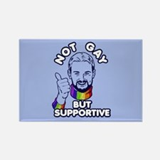 Not Gay...But Supportive! Rectangle Magnet