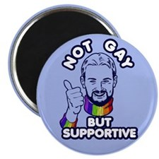 Not Gay...But Supportive! Magnet