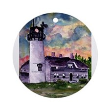 Chatham Cape Cod Lighthouse Painting Ornament (Rou