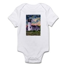 Chatham Cape Cod Lighthouse Painting Onesie