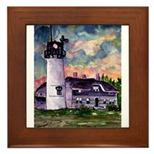 Chatham Cape Cod Lighthouse Painting Framed Tile
