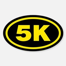 5 K Runner Oval Oval Decal