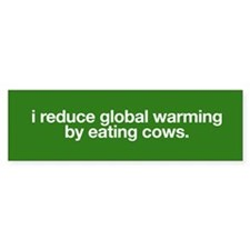 I reduce global warming by eating cows