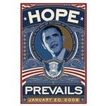 """Hope Prevails"" Large Poster"
