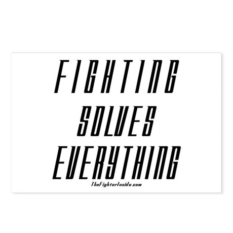 Fighting Solves Everything-w/ Postcards (Package o