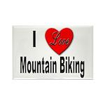 I Love Mountain Biking Rectangle Magnet (10 pack)