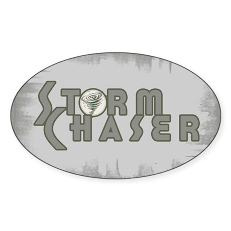 Storm Chaser 4 Oval Sticker