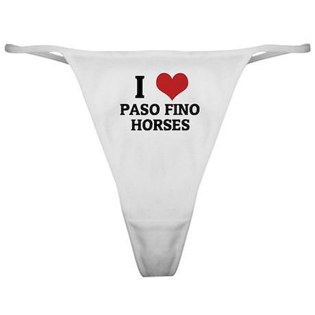 I Love Paso Fino Horses Classic Thong