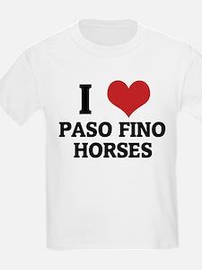 I Love Paso Fino Horses Kids T-Shirt