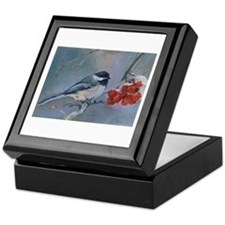 Cute Chickadee Keepsake Box