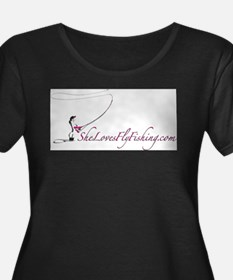 She Loves Fly Fishing Stuff Plus Size T-Shirt