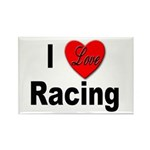 I love Racing Rectangle Magnet (10 pack)