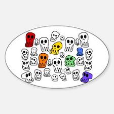 Rainbow Skulls Decal