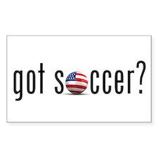 got soccer (USA)? Rectangle Decal