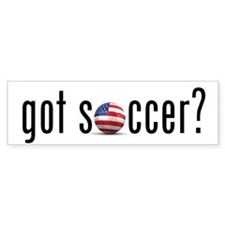 got soccer (USA)? Bumper Bumper Sticker