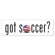 got soccer (USA)? Bumper Car Sticker
