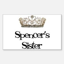 Spencer's Sister Rectangle Decal