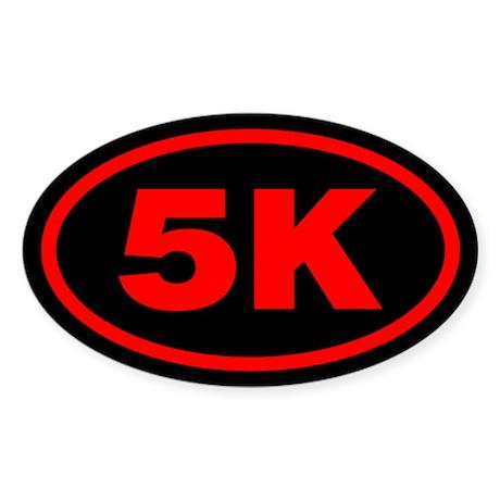 5 K Runner Oval Oval Sticker