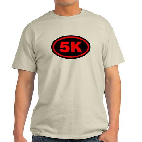 5 K Runner Oval Light T-Shirt