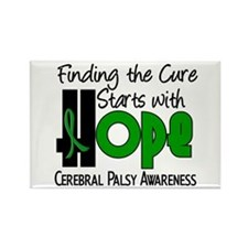 HOPE Cerebral Palsy 4 Rectangle Magnet