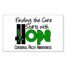 HOPE Cerebral Palsy 4 Rectangle Decal