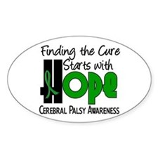 HOPE Cerebral Palsy 4 Oval Decal