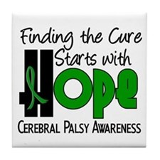 HOPE Cerebral Palsy 4 Tile Coaster
