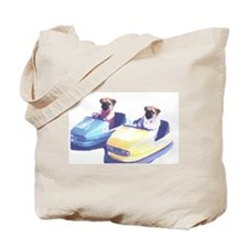 Retro Pugs Tote Bag