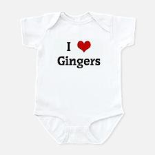 I Love Gingers Infant Bodysuit