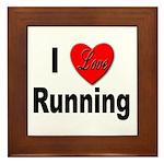 I Love Running Framed Tile