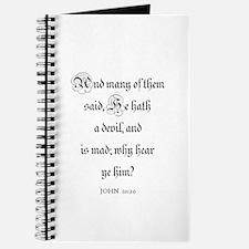JOHN 10:20 Journal